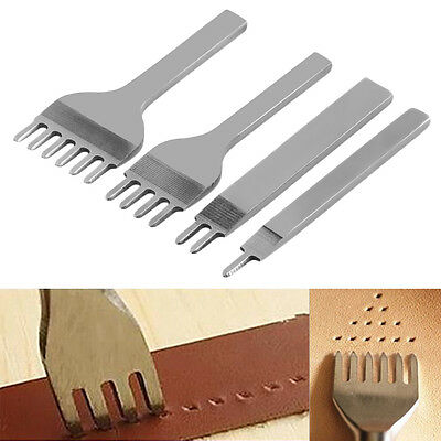 6mm Leather Craft Tools Hole Punches Stitching Punch Tool 1+2+4+6 Prong F5