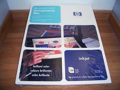 HP Premium Inkjet Transparency Film 50-Sheets C3834A NEW FACTORY SEALED