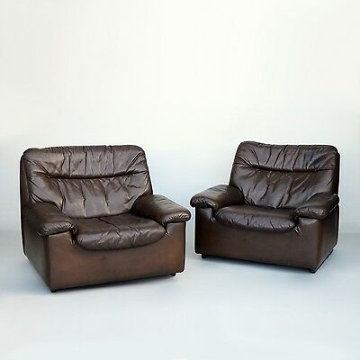 Pair of Comfortable Leather Armchairs by de Sede, Quality