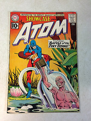 Showcase #34 Key Issue, Origin + 1St Appearance Atom, 1961 -- Key Issue!!!!