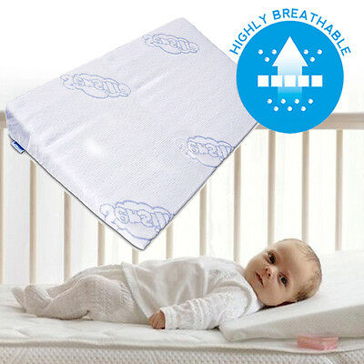 Baby Wedge Anti Reflux Colic Pillow Cushion For Cot Or Cot Bed