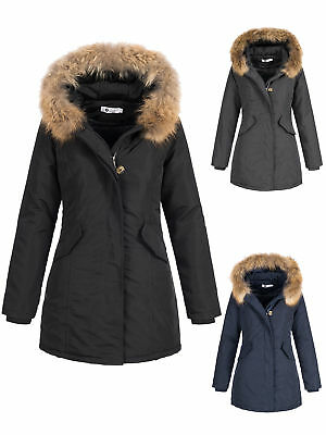 zarlena damen wintermantel winterjacke parka echtfell. Black Bedroom Furniture Sets. Home Design Ideas