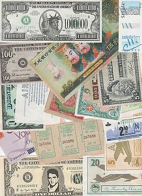 Vouchers,tokens,novelty,facsimiles - Large Collection of stuff that is not money