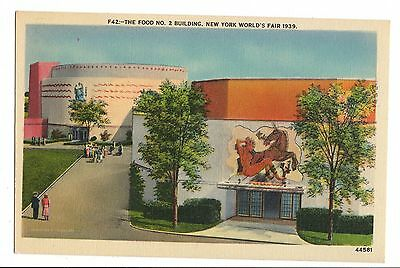Vintage Postcard New York World's Fair 1939 Food No. 2 Building