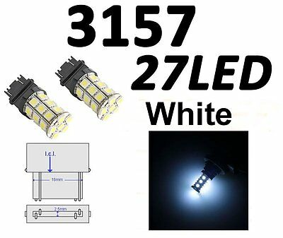 2 X White 3157 3156 3057 3457 27SMD 5050 LED Tail/Brake/Stop/Turn From Canada