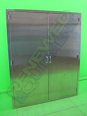Continental Stainless Steel Recessed Storage Cabinet with Double Doors #3