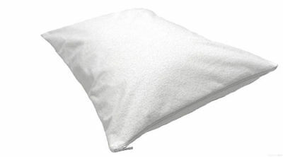Terry Towelling Waterproof Pillow Protectors Cover Case Anti Allergy Cotton Zip