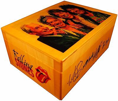 Rolling Stones figure statue portrait, BOX with SIGNED AUTOGRAPHED, Poster Quote