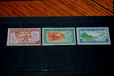 Tokelau Islands stamps - 3 mint hinged early stamps - nice group !!