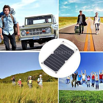 Solar Charger 10W Ultra Thin Silicon Solar Panel 5V USB Camping Traveling H7U6