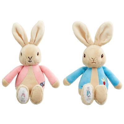 Peter Rabbit or Flopsy Bunny Bean Rattle - Baby Teddy Gift 17cm