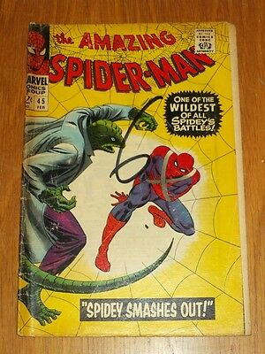 Amazing Spiderman #45 Fr (1.0) Marvel Comics February 1967