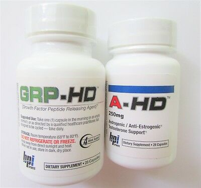 GRP+ A-HD Combo BPI Sports Androgenic/Anti-Estrogen Testosterone Support