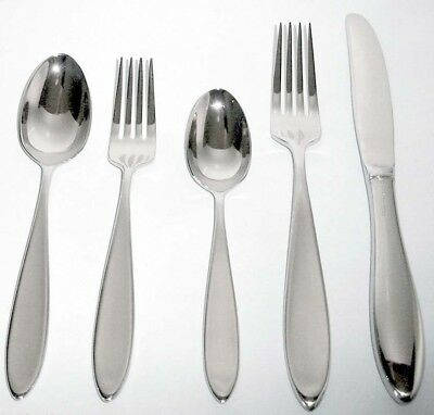Wedgwood NEW OBERON 5 Piece Place Setting 18/10 Stainless Flatware New