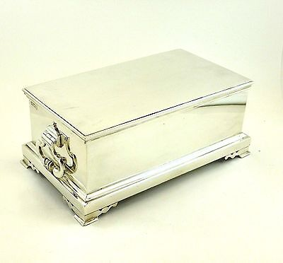 Heavy Birks Sterling Silver Cigarette / Cigar Case with Handles 816 g
