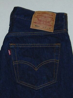 VINTAGE 90s Levi's 501 Button Fly Jeans Size 34x31 100% Cotton Made in USA EUC