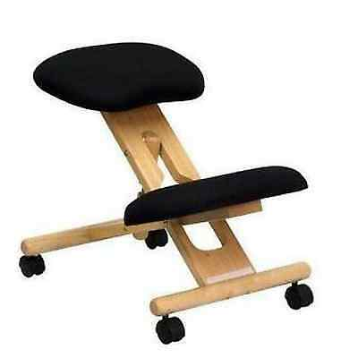 New Wooden Black Ergonomic Kneeling Posture Office Massage Chair