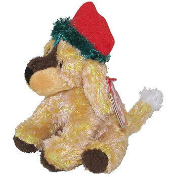 TY Jingle Beanie Baby - JINGLEPUP the Dog (4.5 inch) -MWMTs Holiday Ornament Toy