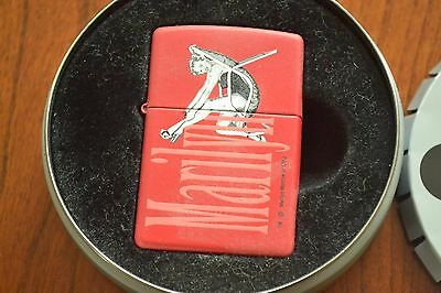 ZIPPO Lighter, Stars of Hollywood, Marilyn Monroe Seated, Red, 2002, Sealed M653