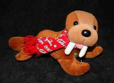 Coca-Cola Brand Plush Collection - Walrus with Bottle and Scarf