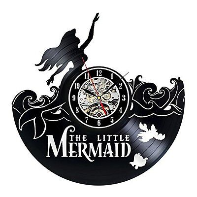The Little Mermaid Disney_Exclusive wall clock made of vinyl record_GIFT