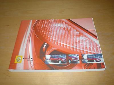 RENAULT MEGANE SCENIC II & GRAND DYNAMIQUE EXPRESSION Owners Manual Handbook