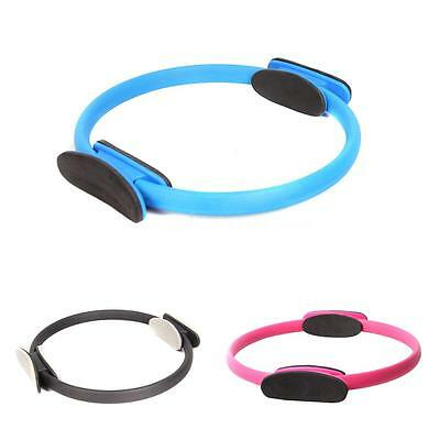 Yoga Pilates Ring Exercise Equipment Dual Grip Fitness Circle Blue N7D7