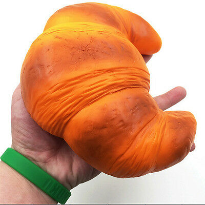 18cm Super Jumbo reedy Croissant Squishy Scented Super Slow Rising Bread Toys