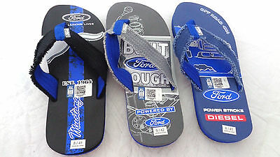 133718b18981 Mens Ford Tough Sandals Flip Flop Ford Motors Men s Sizes Beach Sandals