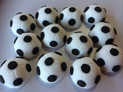 12 Edible Soccer Cupcake Decorations Toppers Cake Set Birthday Balls Sport