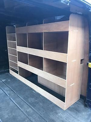 Ford Transit Custom SWB Plywood Racking / Shelving With Drill / Service Case Div