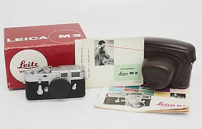 Leitz / Leica M3 Chrome Body No.1065311 w. Papers & Box