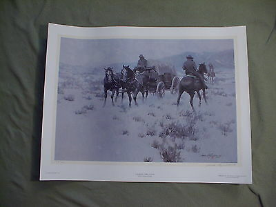 James Reynolds signed & numbered print - Looking For Cover, Western art