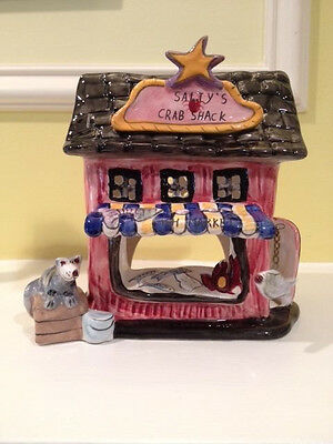 Salty's Crab Shack Tealight Candle House Blue Sky Clayworks Heather Goldminc