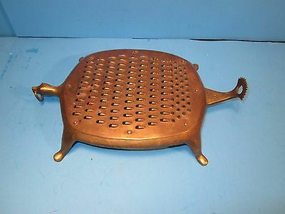 Vintage Brass Turtle Cheese Grater, Great cond. Made in India