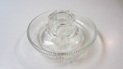 Vintage Clear Glass Ribbed & Hexagonal Reamer / Juicer