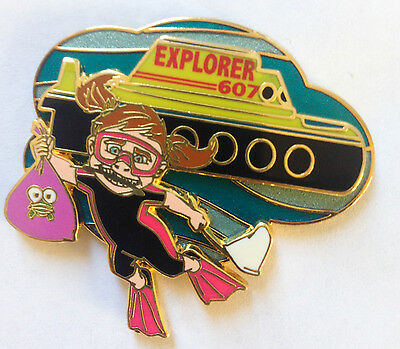 Disney Pin 61277 DLR - Finding Nemo Submarine Voyage -  Darla - Explorer Pin LE