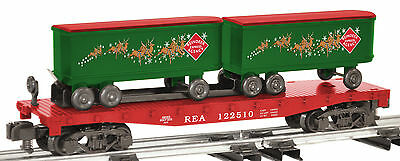 "American Flyer #6- 48563 Christmas Reindeer Express W/piggyback Trailers ""new"""