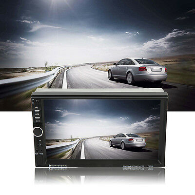 2 Din Universal Bluetooth 7 Inch Touch Screen Aux Input Car DVD FM/MP5 Player SW