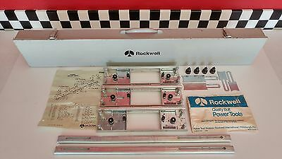 ROCKWELL HINGE BUTT TEMPLATE KIT SET Model 59380 In Metal Case - (New Old Stock)