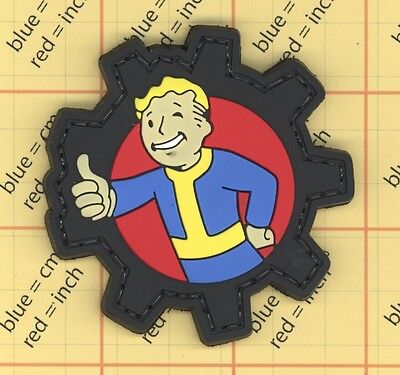 PVC THUMBS UP Morale Patch Fallout 3 Comic Vault Boy Pip Quality Army