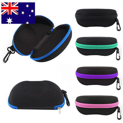 Sunglasses Eyeglasses EVA Hard Case 5 Colors Zipper Protective Box with Hook AU#