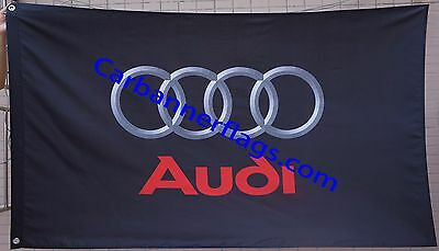 NEW Audi Flag 3X5 Banner flags-Black Audi car flags- free shipping
