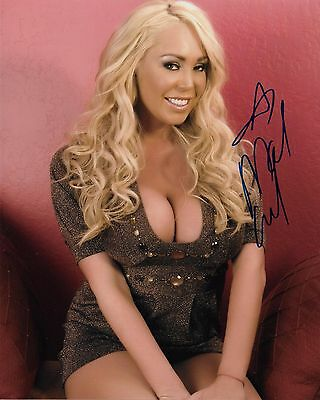 ALEXIS AMORE MODEL ADULT FILM STAR SIGNED AUTOGRAPH 8X10 PHOTO #8 W// PROOF