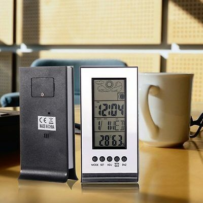 Temperature Thermometer Indoor Outdoor Clock Alarm Humidity Weather Station