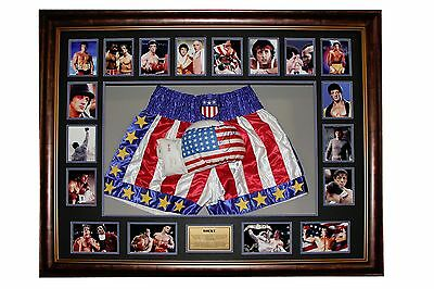 Rocky ( Sylvester Stallone ) Signed Glove And Stars & Stripes Shorts