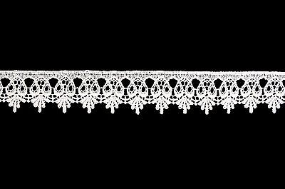 """Unotrim 1.75"""" Embroidered White  Venise Lace Trim Scalloped Edge DIY by Yardage"""