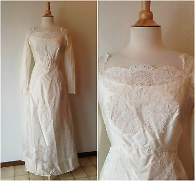 Vintage 1950's Wedding Gown | Alfred Angelo Original | Designed by Edythe Vincen