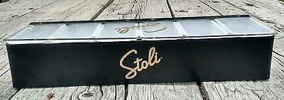 6 Compartment Stoli CONDIMENT Garnish Holder TRAY Bar Tray or Toppers