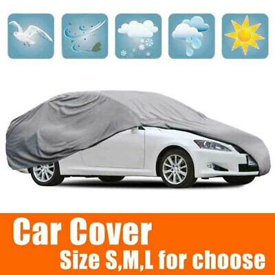 Silver Gray Out/Indoor Waterproof Anti UV Hatch-Back Auto Full Cover Size S/M/L